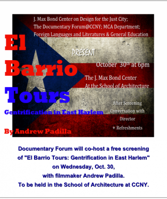 El Barrio Tours: Screening and Panel Discussion