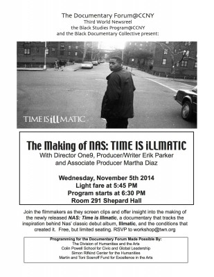The Making of NAS: Time is Illmatic---The Documentary with Director One 9 on Nov. 5, 2014