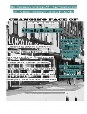 Changing Face of Harlem March 4, 2015
