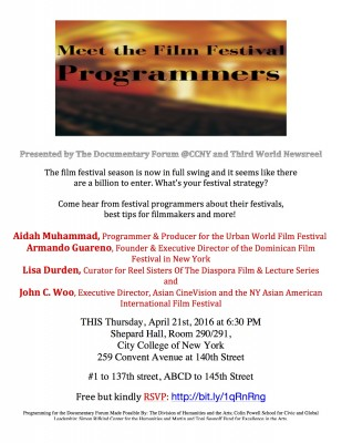 April 21, 2016: Meet the Film Festival Programmers