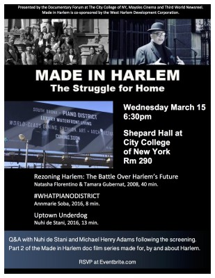Made in Harlem #2 in Series---Regentrification March 15, 2017