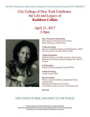 Kathleen Collins Day! April 21, 2017