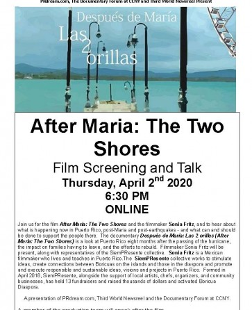 After Maria: The Two Shores - Film Screening and Talk