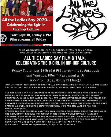 All the Ladies Say Film & Talk: Celebrating the B-Girl in Hip-Hop Culture