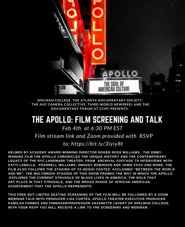 The Apollo Documentary and Talk with Producer