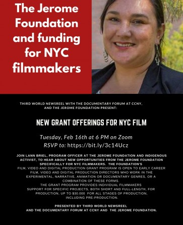 Jerome Foundation and NYC Filmmakers: new grant offerings