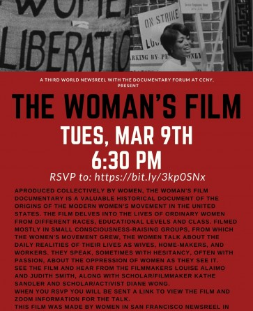 The Woman's Film - Screening and Talk