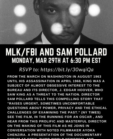 MLK/FBI and SAM POLLARD